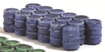 HN648 - Harburn Blue Oil/Chemical Drums, Grouped, N Scale (1)